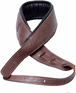 MoonEmbassy Guitar Strap,Soft Leather Guitar Strap&Bass Strap with 3.5
