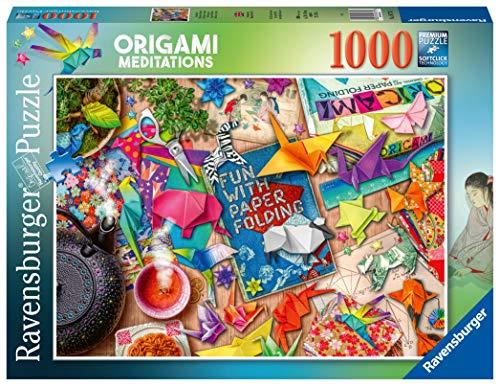 Ravensburger Puzzle, Puzzle 1000 Piezas, Meditacion y Origami, Puzzles para Adultos, Puzzle Fantasy, Rompecabezas Ravensburger