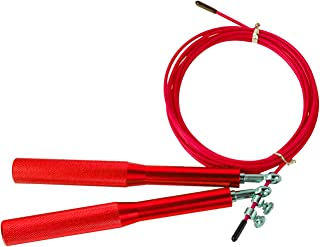 DREAM HORSE Tangle-Free with Ball Bearings Rapid Speed Jump Rope Cable with Aluminum Alloy Handle Fat Burning Wire Skippin...