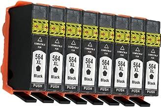 No-name 4 Color Compatible Ink Cartridge Replacement for HP 564XL 564 XL HP564 HP564XL Photosmart Plus B209a B210c B210d B209c B210a Inkjet Printer (8 Black, 8 Pack)
