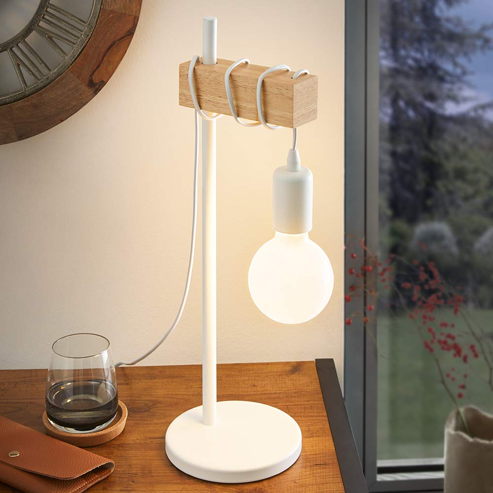 EGLO 33163 Lámpara de mesa, 10 W, Blanco: Amazon.es: Iluminación