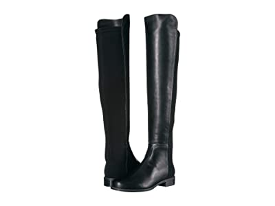 Stuart Weitzman The 5050 Boot (Black Nappa/Stretch Gabardine) Women