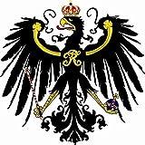 U24 Aufkleber Königreich Preussen Preußen Adler Kontur Autoaufkleber Sticker