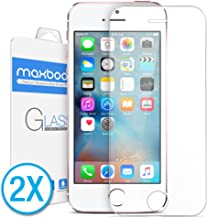 Maxboost Screen Protector for iPhone SE (2016 Edition), iPhone 5s, iPhone 5c and iPhone..