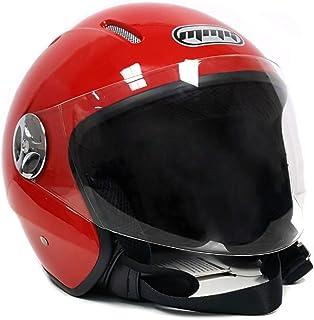 ebc4818f MMG 51 Motorcyle Helmet Pilot Red - Open Face Flip Up Shield DOT Street  Legal (