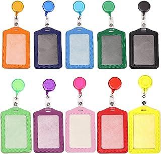 Porte-cartes Multicolores Titulaire de Carte, rétractables, badge Carte de travail En plastique Porte-badge Titulaire de L...