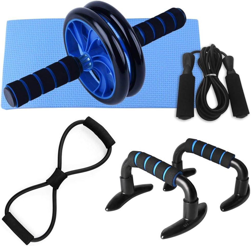 Lixada 5-in-1 Regular dealer AB New popularity Wheel Roller Pre Exerciser Kit Abdominal Spring
