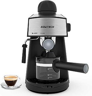 Cafetera Espresso, Máquina de café espresso vaporizador, cafetera, máquina de capuchino con varilla de espumador de leche ...