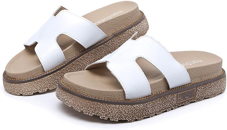 Gusha Women's flip Flops Summer New Models Sandals Thick Soles Wild Flat shoes