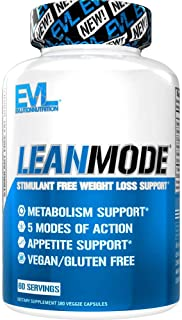 Evlution Nutrition Lean Mode - Complete Stimulant-Free Weight Loss Support and Diet System with Green Coffee, Carnitine, CLA, Green Tea, Garcinia Cambogia for Fat Burning and Metabolism (60 Servings)