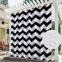 パティオ用屋内/屋外カーテン防水遮光プライバシー保護屋外ブラインド断熱UVポーチカバナ用UVサンブラックアウトカーテン1セット、I、W1H2.3mペア