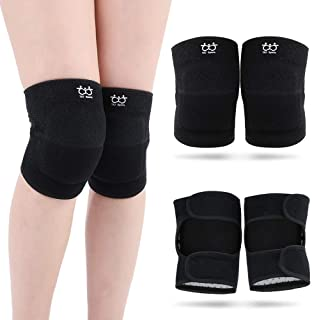 boruizhen Protective Knee Pads for Dancers, Thick Sponge Volleyball Knee Pads for Women Men Anti-Slip Breathable Soft Sponge Sports Knee Pads