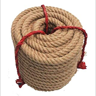NHDY HAOUY Durable Natural Jute Climbing Rope Synthetic Hemp Rope for Tug-of-War Competitions Rope Packaging Bundling 20-60mm X 10m 06 0624 Size : 45mm