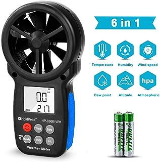 HOLDPEAK 866B-WM Digital Anemometer Handheld Wind Speed Meter with Altitude and hpa measurement, for Measuring Wind Speed,...