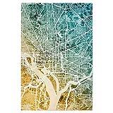 artboxONE Poster 45x30 cm Städte Washington DC City Map -