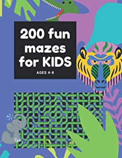 200 FUN MAZES FOR KIDS, AGES 4-8: Maze Activity Book for Kids   Great Workbook for Developing Problem Solving Skills   Spa...