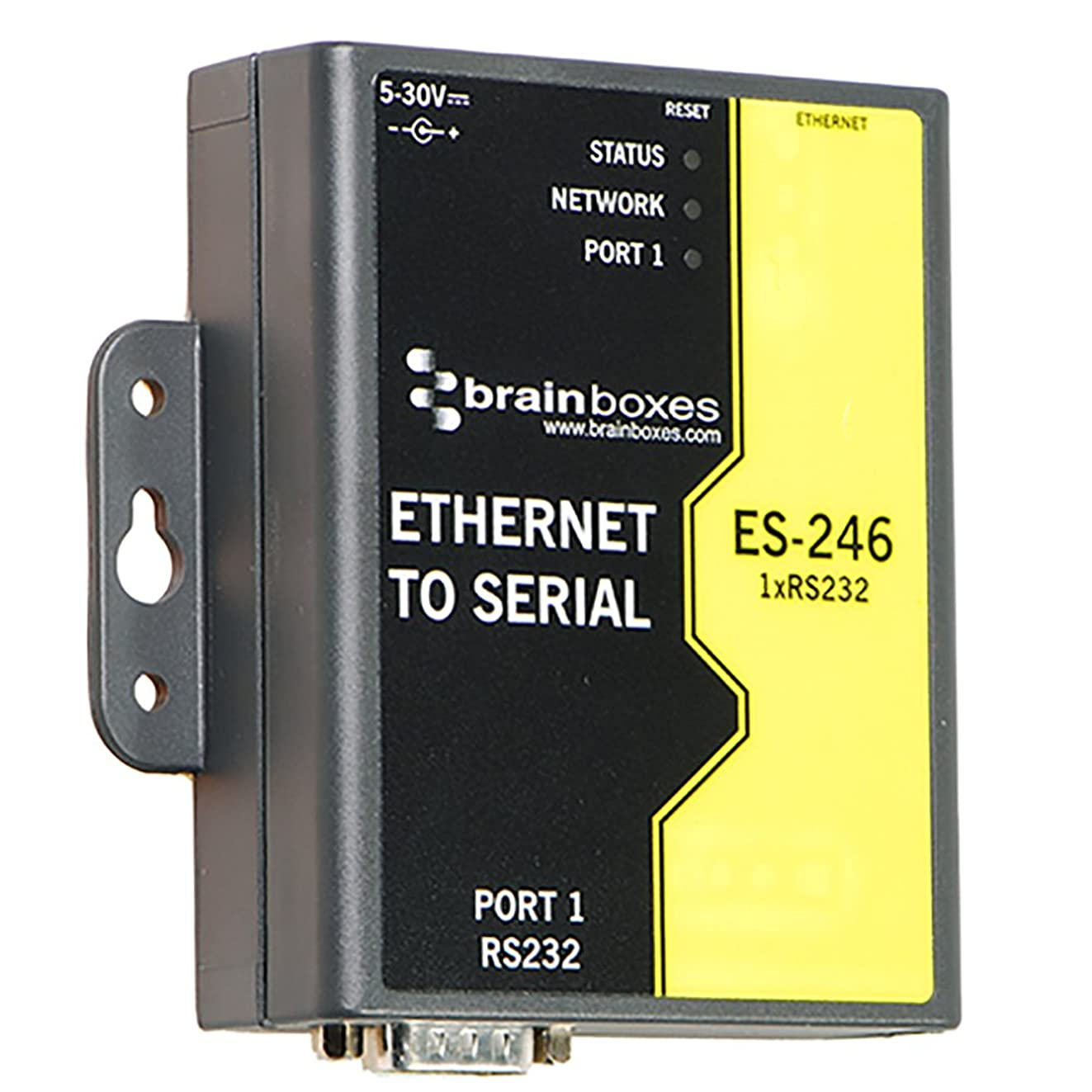 Brainboxes Device Server - 10Mb LAN, 100Mb LAN, RS-232 (ES-246)
