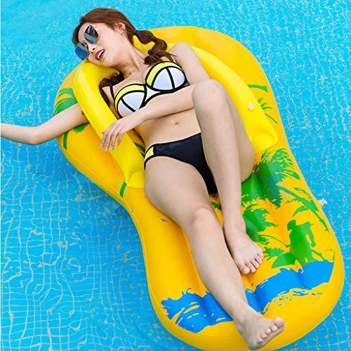Unieke waterpantoffels Ligstoelen Zomer buitenzwembad Opblaasbare hangmatten - Zwemmen Essentiële drijvende rij voor volwassenen en kinderen - 160 x 60 CM