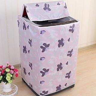 SODAOA屋 洗濯機カバー パターン厚い 防水 日焼け止め 紫外線ブロック 汚れ防止 老化防止力が持ち ジッパー 花柄 可愛い 人気 シンプル(02)