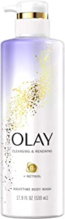 Olay Cleansing & Renewing Nighttime Body Wash With Retinol, 17.9 Fl Oz, 4.673 Lb