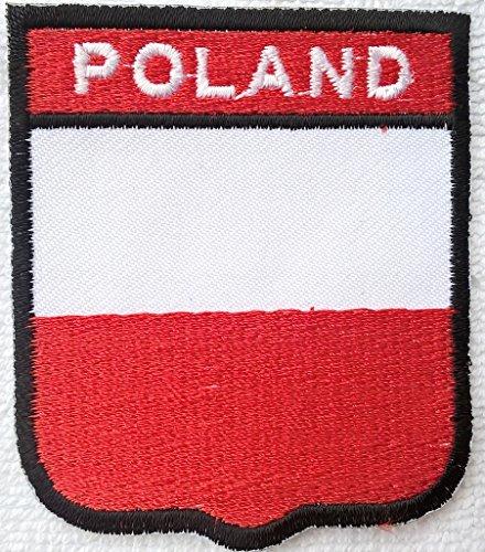 Polen Aufnäher Aufbügler Bügelbilder Sticker Applikation Iron on Patches für Jacken Jeans Stoff Kleidung Kleider Flaggen Fahnen zum aufbügeln