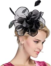 large black flower fascinator