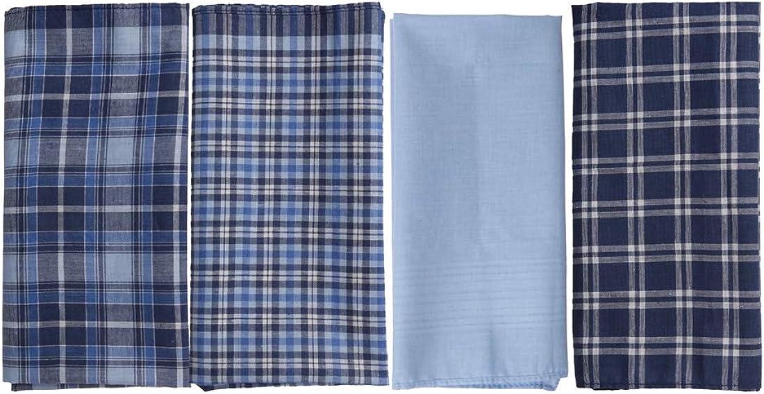 Multi-Color Flower Man Hankie 38 Cm 100% Pure Cotton Handkerchiefs YEB0108 Y&G Dark Blue,Light Sky Blue