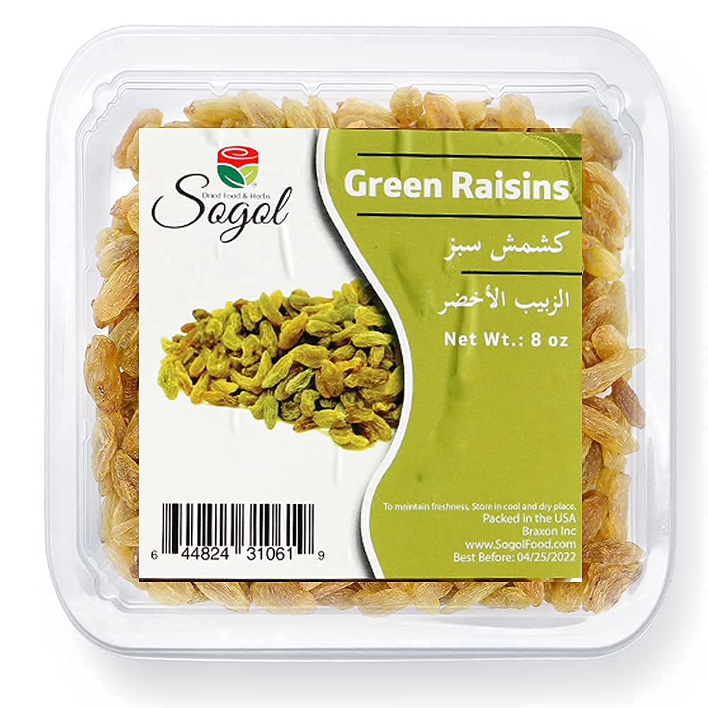 Green Raisins Premium Large Seedless Dried shop oz Added 8 No Sugar Ranking TOP2