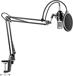 Neewer NW-800 Silver Professional Studio Broadcasting Recording Condenser Microphone & NW-35 Adjustable Recording Micropho...