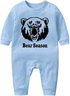 Wildcat Paw Baby Boys Girls Long Sleeve Baby Onesie Organic Baby's Creeper