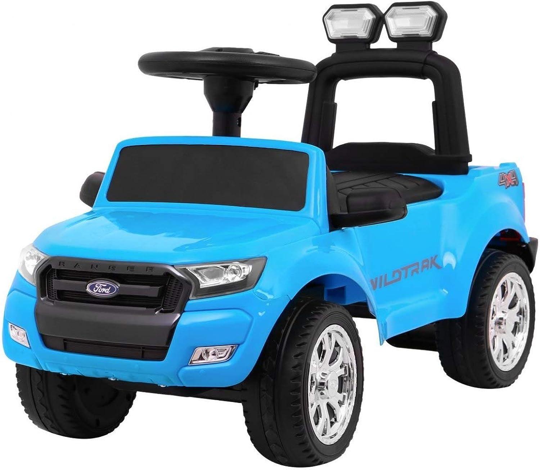 Kinder Rutscher Auto Bobbycar Rutschauto - Ford Ranger - Blau
