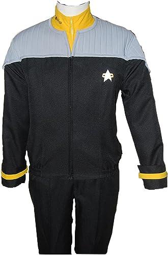 MingoTor Star Trek NEM Nemesis Voyager Captain Sisko Gelb Uniform Cosplay Kostüm Herren M