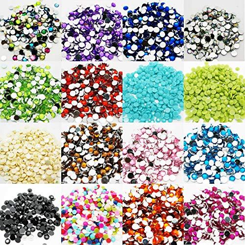 EliteKoopers Lot de 1000 strass à dos plat pour nail art 3 mm