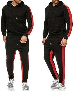 LeerKing Heren Trainingspak Joggers Fleece Hoodie Sportwear Sweatshirt Broek Set voor Man, Jongens, 5 Kleuren, Maat M tot 3XL