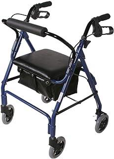 Mobility Aids & Supplies Walker Metal Cushion Multi-functional Rehabilitation Sports Car Old Folding Wagon Four-wheeled Ca...