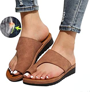 Comfy Platform Sandal Clip Toe Flip Flops Women'S Corrective Slippers Suitable For Beaches Swimming Pools Streets Parties Other Occasion,purple,38