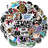 SBOBUY 50 PCS Star Wars Stickers for Laptop Water Bottle Luggage Snowboard Bicycle Skateboard Decal for Kids Teens Adult Waterproof Aesthetic Stickers