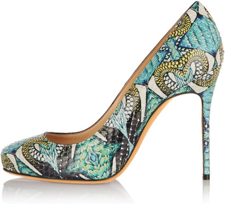 Joogo Women Slingbacks Peep Toe Sandals Hight Heel Platform Pumps shoes in Party Green
