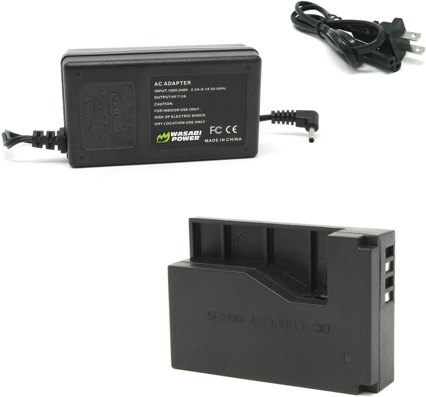 Opening large release sale Wasabi Long-awaited Power ACK-E15 AC Adapter DC Kit with DR-E15 Coupler