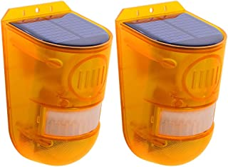 Solar Strobe Light-Motion Detector Solar Alarm Siren IP65 Waterproof Solar Powered Motion Sensor Home Safety Wireless LED ...