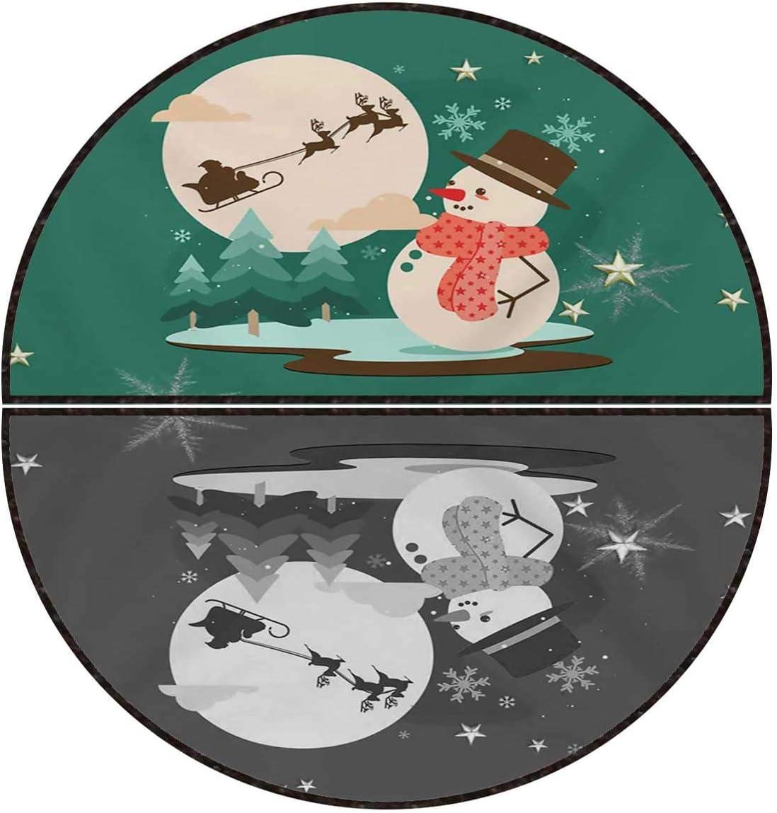 Home Office Floor Mat Green San Antonio Mall Simple Snowman Decoration Christmas Quantity limited