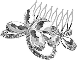 Pixnor Delicata affascinante sposa strass capelli Headwear accessori pettine pettine matrimonio