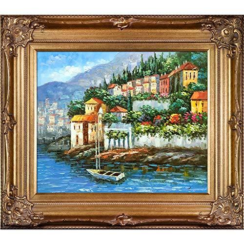 overstockArt Italy at Dusk Artwork with Renaissance Bronze Frame Finish