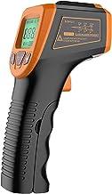 Fesjoy infrarrojo, pistola de temperatura láser digital sin contacto -58 ° F a 1112 ° F (-50 ° C a 600 ° C) con pantalla LCD, naranja láser