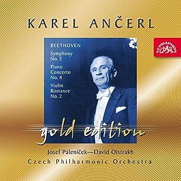Ančerl Gold Edition 25. Beethoven: Symphony No. 5, Piano Concerto No. 4, Violin Romance No. 2