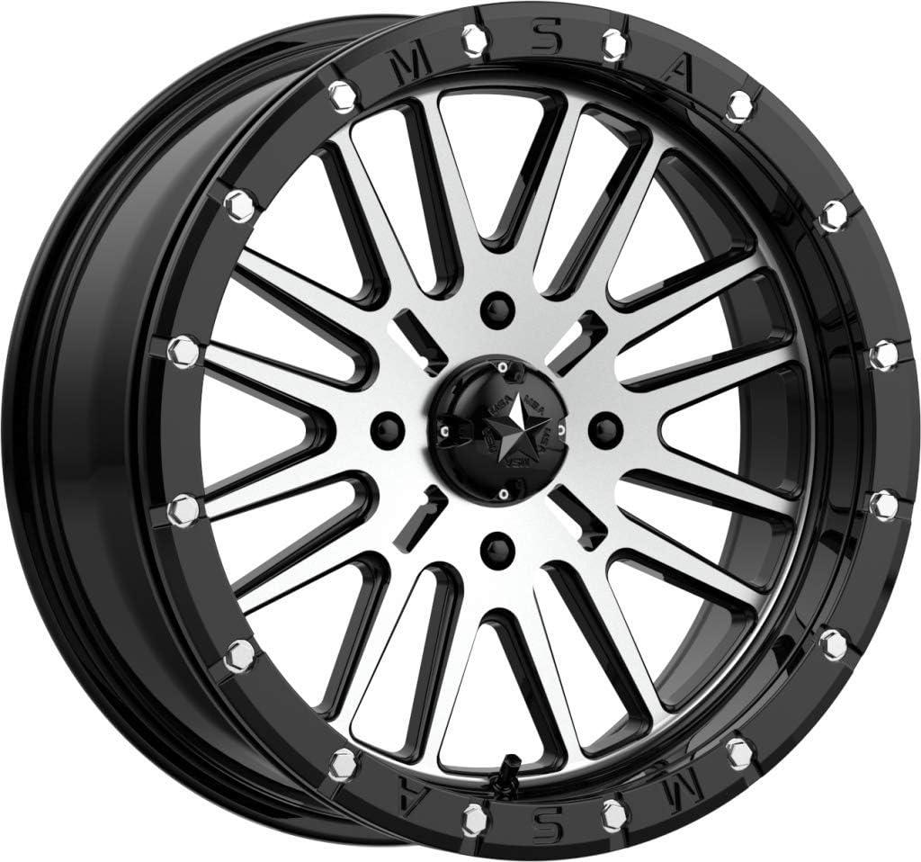 MSA OFFROAD WHEELS M37 overseas BRUTE Wheel OFFicial mail order BEADLOCK Machined Black Gloss