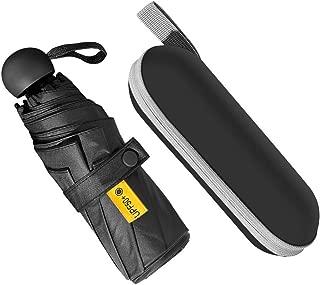 Portable Mini Umbrella Outdoor Compact Umbrella - Upgraded 8 Ribs Travel Umbrella with Travel Storage Case