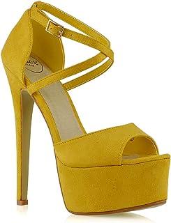 9024b51eeb Amazon.it: Giallo - Scarpe col tacco / Scarpe da donna: Scarpe e borse