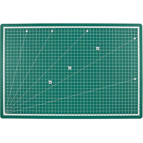 PRETEX Schneidematte RESISTANT 45 x 30 cm (A3) in dunkelgrün mit selbstheilender Oberfläche | Schneideunterlage, Cutting Mat