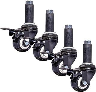4 stuks ronde buizen met remmen, 2 inch kogellagers met dubbele kogellagers, wielen om op te rijgen, meubelwagen voor rolw...
